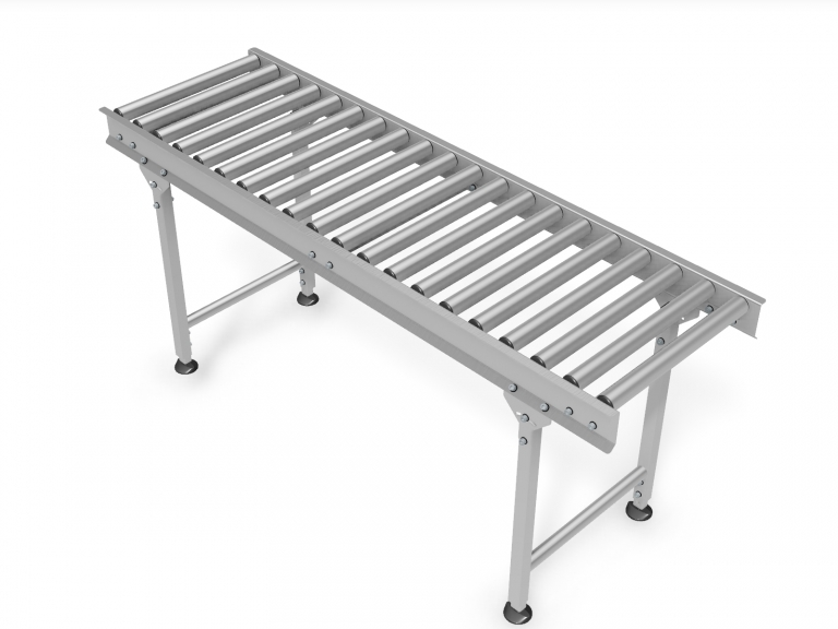 gravitational roller conveyor - stainless steel structure - straight
