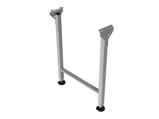 Stainless steel leg with leveling pads