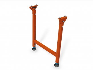 Standard steel leg with adjustable leveling pads