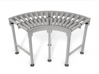 Stainless Steel Rollers - Curved conveyor - Stainless steel ...