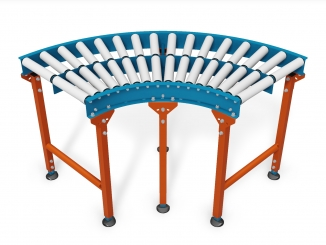 PVC Rollers - Curved conveyor - Mild steel structure