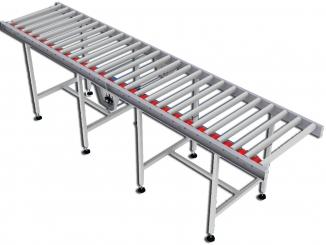 Flat Belt Powered Roller Conveyor