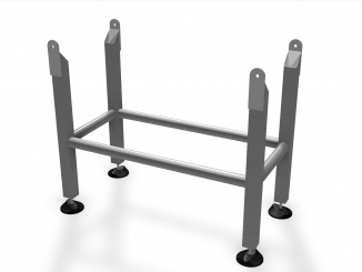 Support structure for conveyor - stainless steel