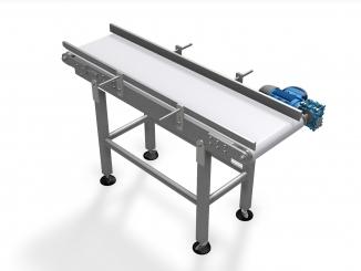 Polyurethane Belt Conveyor - Stainless steel structure