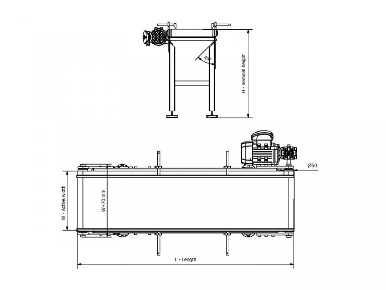 polyurethane belt conveyor