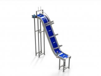 Modular Belt - Stainless Steel - Elevator Conveyor