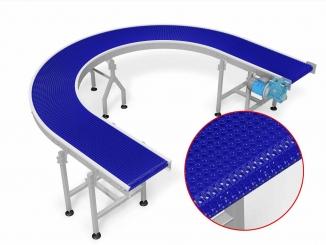 Modular Belt - Curved Conveyor - 180 degrees - Stainless ...