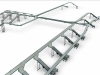 Live roller conveyor line - for totes transport - dispatch area