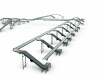 Live roller conveyor line - for totes transport - multivac area