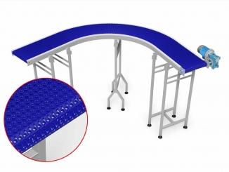 Modular Belt - Curved Conveyor - 90 degrees - Stainless ...