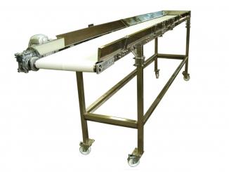 Stainless Steel Polyurethane Belt Conveyor - Caster Wheels