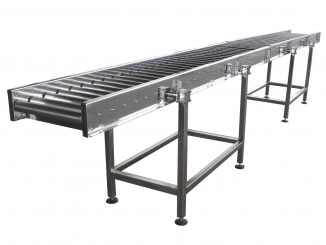 Stainless Steel Roller Conveyor - Fixed Sidewalls