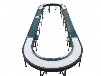 Mild Steel - Carousel Conveyor with Modular Belt and PVC ...