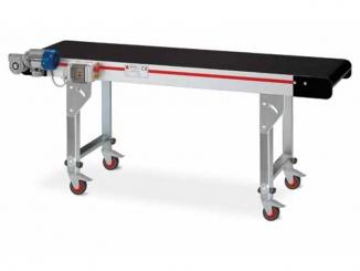 Horizontal conveyor - Aluminium profile structure - Fitted ...