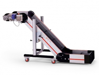 Swan neck elevator conveyor - Adjustable angle - Aluminium ...