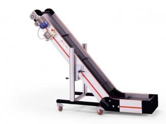 Elevator conveyor - Fixed angle - Aluminium structure - ...