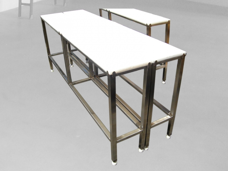 Stainless Steel Work Tables With HDPE Table Top