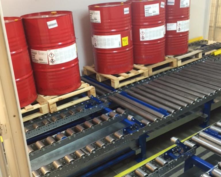 Automotive Company Gravity Roller Conveyors Logistics
