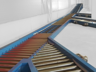Furniture factory - Euro pallet conveyor line