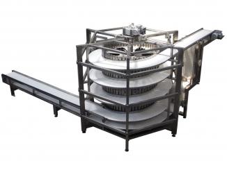 Spiral Conveyor - Stainless Steel - Modular Belt - Bread