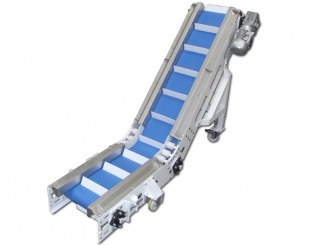 Mild Steel - Polyurethane Belt - Swan Neck Conveyor