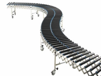 Gravitational roller conveyor - Extendable