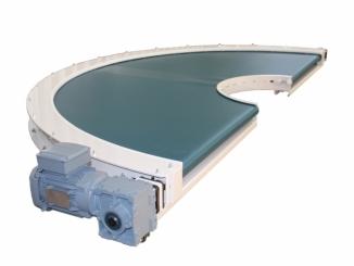 180 degrees - Curved Conveyor - with interior radius