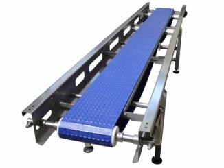 Tote Stainless Steel Conveyor - Plastic belt
